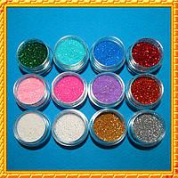 Декор песочки в банке набор микс (Глиттеры)  12штук - ниже стоимость