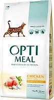 Сухой корм для кошек OPTIMEAL - курица, 10 кг