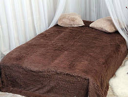 Покривало на ліжко травка, Євро 220х240 -коричневе