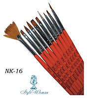 Кисти для росписи ногтей Yre Nail Art Brush NK-16