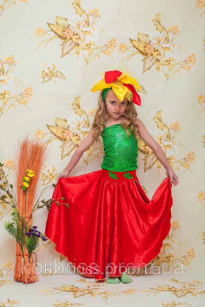 Карнавальный костюм аленький цветок, цветочек, весенний цветок прокат Киеврокат