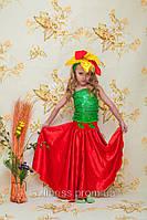 Карнавальный костюм аленький цветок, цветочек, весенний цветок прокат Киеврокат, фото 1
