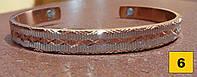 Медный магнитный браслет лечебный - медетерапия,давление,суставы, МОДЕЛЬ 6