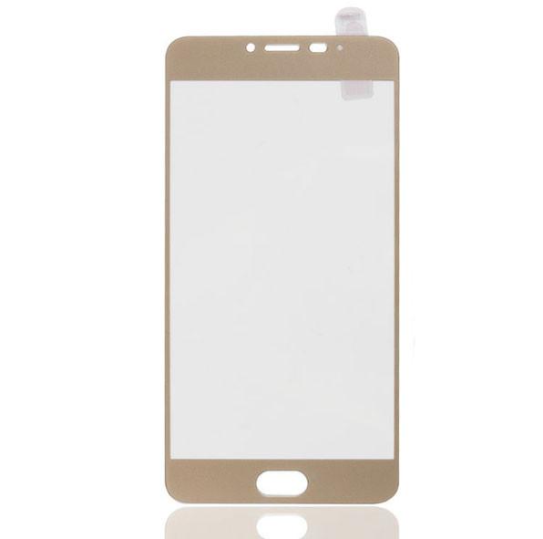 Full Cover защитное стекло для Meizu M3 Note - Gold