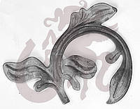 Кованые листья, элемент ковки 16.845 (16,846)