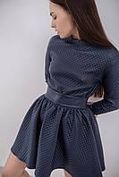 Женский модный синий свитшот из эко-кожи, фото 1