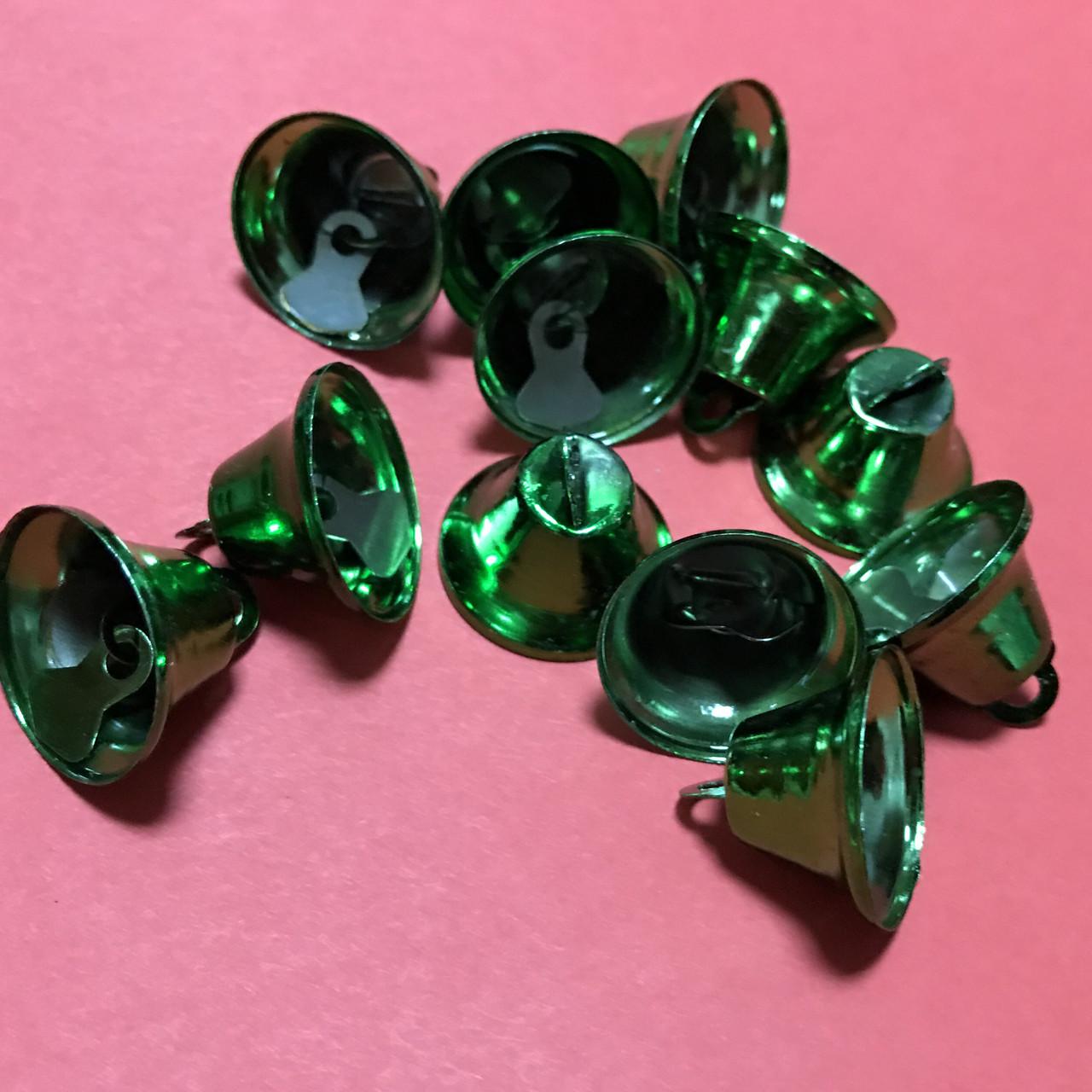 Колокольчик. Звоночек. Зеленый. 20мм