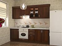 Кухня модульная Флора 2400 мм, массив ольхи