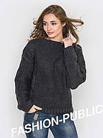 Женский вязанный свитер