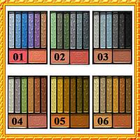 Тени Meis MS-5602 набор 6 теней + 2 румян, 6 тонов компактные, атласные, Упаковкой