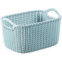 Корзина для вещей Curver Knit XS голубая
