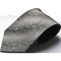 Серый шелковый галстук стандартный Schönau - 142