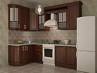 Кухня угловая модульная Скалли 1500*2550 мм, дерево