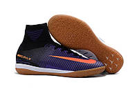 Футзлки Nike MercurialX Proximo II ID фиолет с носком, фото 1