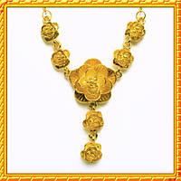 """Колье """"Розы"""" под Золото, Металл, Длина - 48 см + 5 см."""