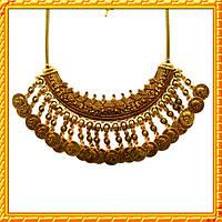 Колье под Золото Монеты, Металл, Длина - 44 см + 6,5 см.