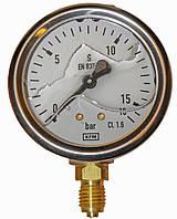 Манометр контроля давления пневмосистемы !глицериновый