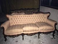 Диван трехместный. Мягкая мебель в стиле рококо и барокко б/у.