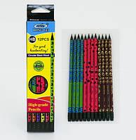 Карандаш простой с резинкой 0708 - 12штв упаковке
