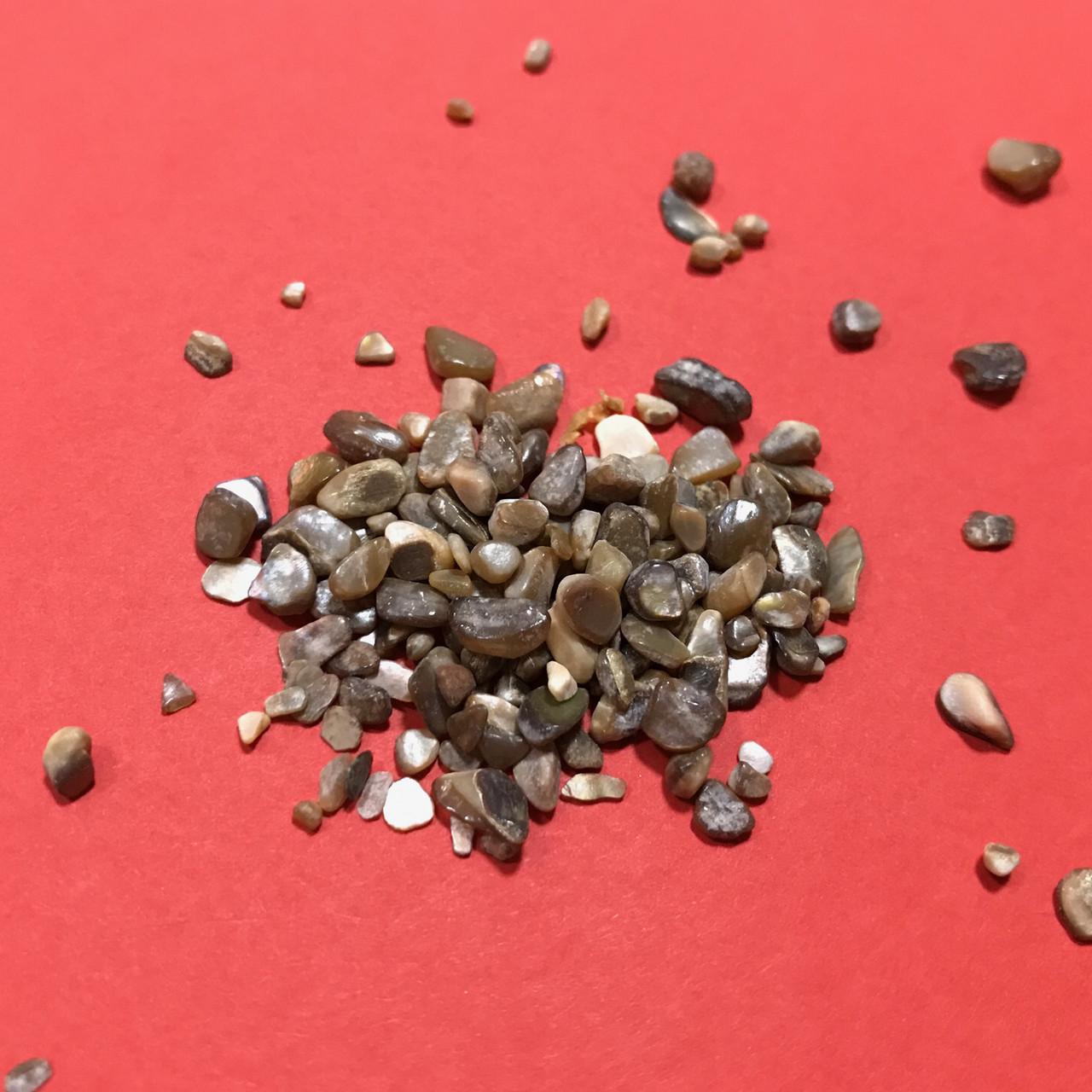 Дробленый камень полированный. Кофе.