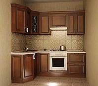 Кухня угловая модульная Сильвия 1300*2200 мм, дерево