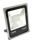 Светодиодный прожектор LEDEX 50W SMD SLIM 4000Lm IP65 6500K белый холодный, Standart, фото 1
