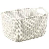 Корзина для вещей Curver Knit S белая