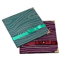 Коробочки для 1 CD-диска ручной работы «Волнистые линии. Зеленая. Фиолетовая»