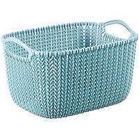 Корзина для вещей Curver Knit S голубая