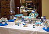Свадебный Кенди бар Candy Bar в бело-синих тонах