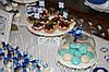 Свадебный Кенди бар Candy Bar в бело-синих тонах, фото 10