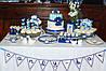 Свадебный Кенди бар Candy Bar в бело-синих тонах, фото 2