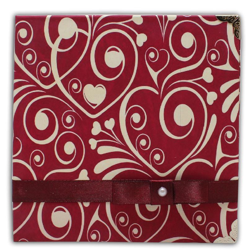 Коробочки для 1 CD-диска ручной работы «Сердца»
