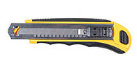 Нож пластик/резина корпус лезвие 8шт 18мм автоматический замок