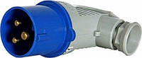 Силовая вилка переносная угловая 3Р+N+Z,32A,IP44