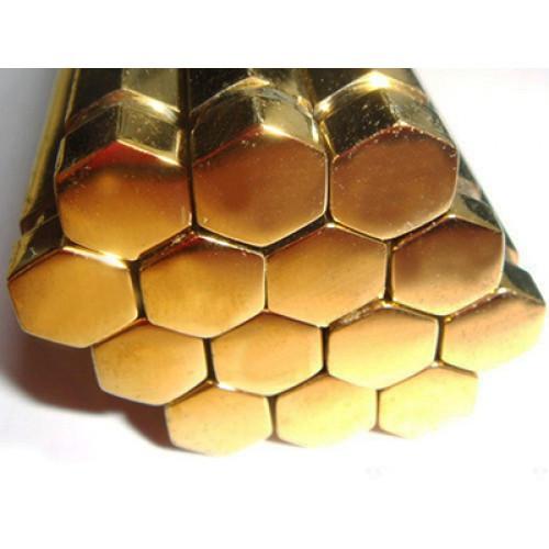 Латунний шестигранник 17х245 ЛС59 купити, ціна, доставка
