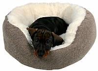 Лежак Yuma Trixie с мехом 45 см коричневый/белый для собак, кошек