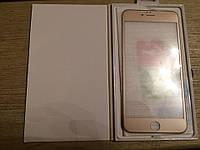 Защитные 3D стекла iphone 6plus gold