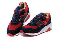 Зимние кроссовки New Balance 580 blue-red
