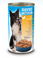 "Консервы для собак ""RENO"" (птица) 1240 гр"