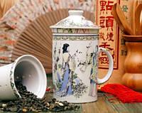 Кружка - заварник с ситечком Церемония чаепития Код:88-8716302