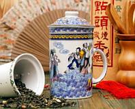 Кружка - заварник с ситечком Чайное Море