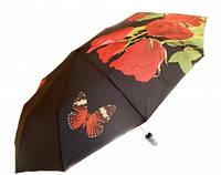 Зонт Антишторм автомат Букет роз и бабочка