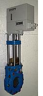 Задвижка ножевая  шиберная ERU фирмы ERHARD (Германия) Ду50…Ду600  Ру10 с электроприводом  СТЭП-М