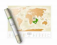 Скретч карта мира Travel Map Gold World русская Код:116-10816547