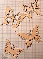 """Чипборд """"Бабочки"""", набор,  15*10см., фанера 2,5 мм"""