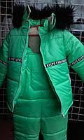 Детский зимний костюм с комбинезоном.
