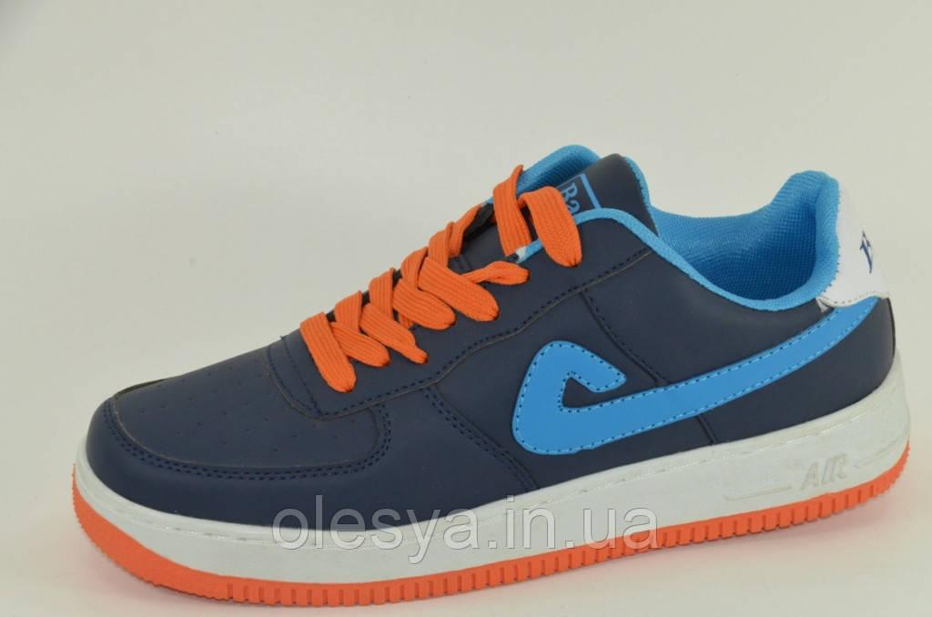 Модные и стильные мужские кроссовки сине-голубые  Размер 41