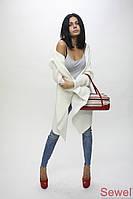 Женский вязаный кардиган (шаль)
