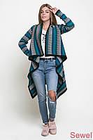 Женская вязаная теплая шаль (накидка)